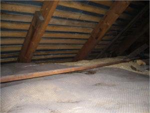 Гидроизоляция опилок при утеплении потолка