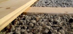 Утепление пола керамзитом - сухой способ