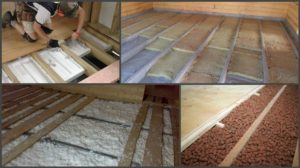 Утеплителя для деревянного пола