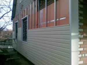 Утепление кирпичных стен пеноплексом методом вентилируемого фасада под сайдинг