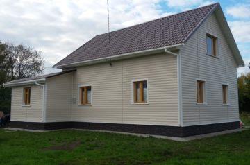 Установка сайдинга на деревянный дом