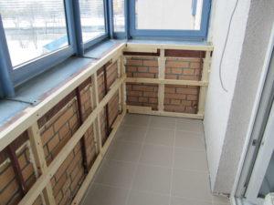 Монтаж обрешетки на балконе под вагонку