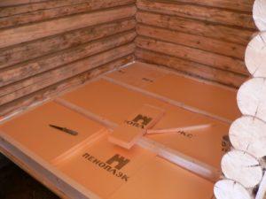 Утепление пеноплексом деревянного пола с лагами