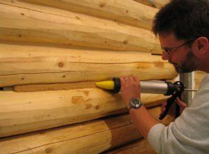 Теплый шов для утепления деревянного дома изнутри