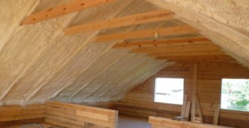 Утепление крыши пенополиуретаном