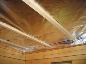 Пароизоляция потолка в бане