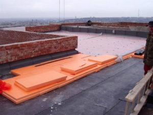 Утепление пенополистиролом плоской крыши