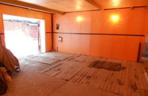 Утепление стен гаража изнутри пеноплексом