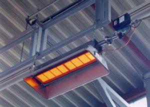 Потолочный инфракрасный обогреватель для гаража