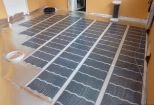 Монтаж электрического теплого пола под ламинат