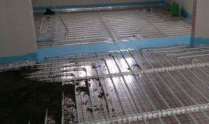 Бетонная стяжка водяного пола