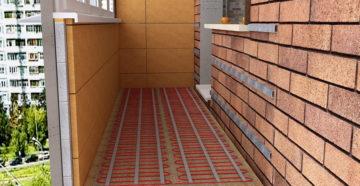 Теплый пол под ламинат на балконе