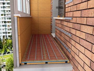 Vyhrievaná podlaha na balkóne