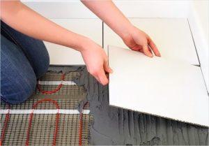 Технология укладки теплого пола под плитку
