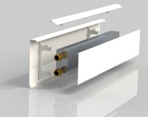 Электрический обогреватель плинтусного типа