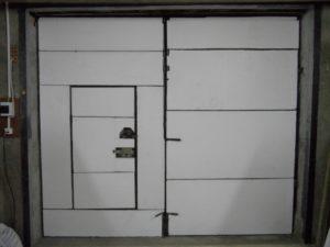 Утепление ворот гаража пенопластом