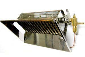 Инфракрасный газовый обогреватель - монтаж на стену