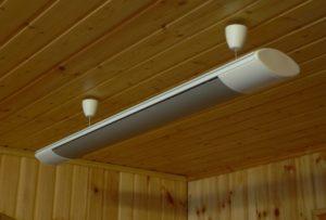 Потолочный инфракрасный обогреватель с терморегулятором для дачи