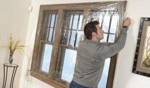 Технологии утепления деревянных окон пленкой