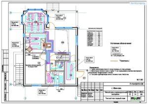 Графическая часть проекта отопления частного дома