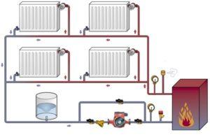Водяная схема отопления частного дома